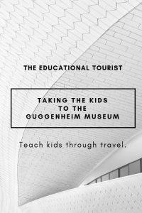 white brick building, taking the kids to the guggenheim