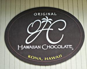 Original Hawaiian Chocolate sign, Original Hawaiian Chocolate, www.theeducationaltourist.com
