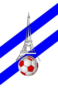 Eiffel tour with soccer ball, Paris Culture, www.theeducationaltourist.com