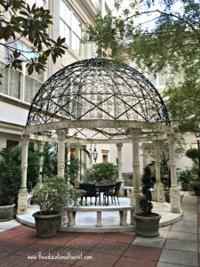 gazebo in courtyard, Ritz - Carlton, New Orleans, www.theeducationaltourist.com