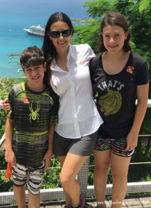 The Educational Tourist and girl and boy in Tortola, Road Trip Hacks and Snacks, www.theeducationaltourist.com