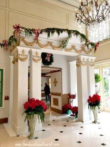 Entrance to Christmas gingerbread room at New Orleans' Ritz Carlton hotel, New Orleans Christmas decoration, www.theeducationaltourist.com