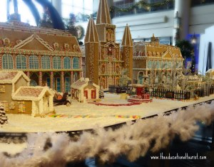 Jackson Square gingerbread in New Orleans' Sheridan hotel lobby, New Orleans Christmas decorations, www.theeducationaltourist.com