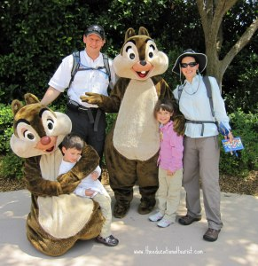 Family with chipmunks at Disney, About The Educational Tourist, www.theeducationaltourist.com