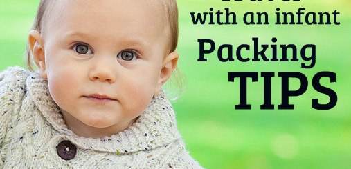 baby in beige sweater, Travel with an infant packing tips, www.theeducationaltourist.com