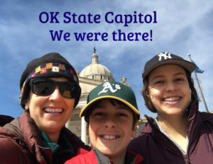 The Educational Tourist at OK state capitol building in OKC