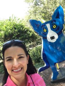 The Blue Dog, NOMA Sculpture Park