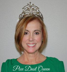 Laura Baustian, PIxie Dust Queen wearing a crown