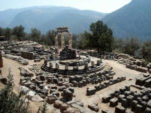ruins in Delphi, trips to greece