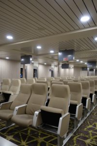 airplane type seating on Greek ferry