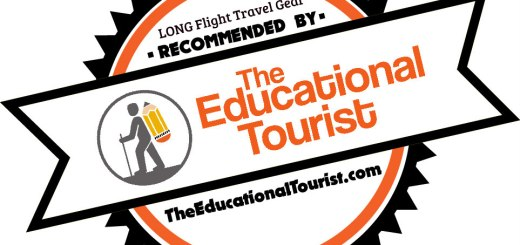 Long flight travel gear recommended by The Educational Tourist badge
