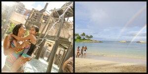 beach and pool at Aulani Disney resort in Hawaii