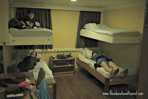 Greek ferries bedroom with bunks