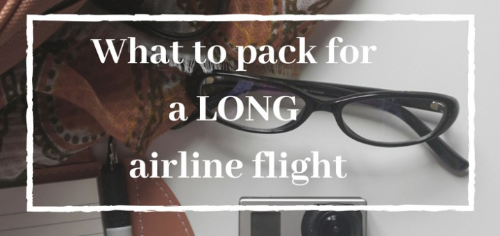 purse and camera, what to pack for a long flight