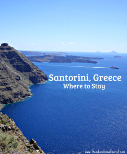 Coast of Santorini, where to stay