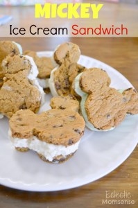 Mickey Mouse shaped ice cream sandwiches from Eclectic Momsense