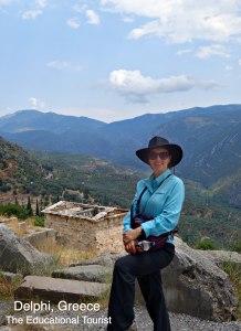 The Educational Tourist in Delphi, Greece