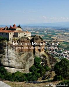 Monastery on Meteora mountain in Kalamabaka, Greece www.theeducationaltourist.com