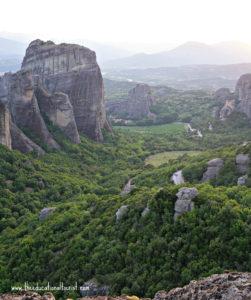 Kalamabaka valley with Meteora Monasteries in Greece
