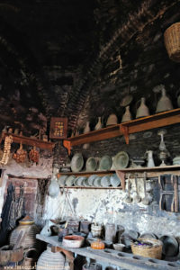 soot in kitchen of old monastery in Meteora Greece area