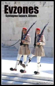Evzones in Syntagman Square Athens Greece