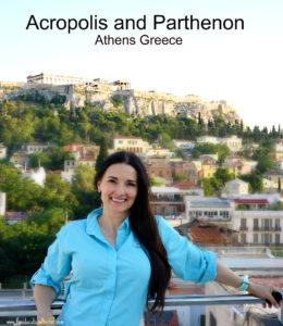 The Educational tourist acropolis parthenon athens greece