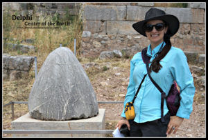 The Educational Tourist in Delphi, center of the Earth