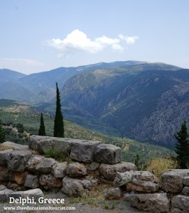 Delphi View in Greece