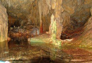 Dirou caves in Greece