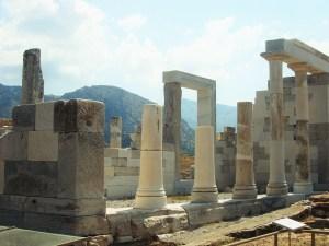 ruins in Delos Greece
