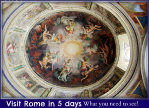 Vatican ceiling Rome 5 day itinerary