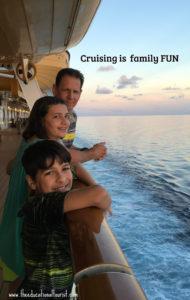 Family on Disney cruise ship