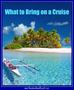 what to bring on a cruise, beach scene with boat