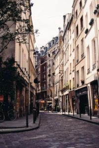 Paris street, family trip to France