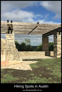 gazebo at the top of Mount Bonnell in Austin, TX