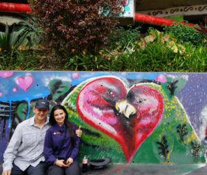 love birds street art in comuna 13