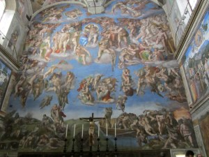 The sistine chapel wall painted by Michelangelo, travel guides for kids, www.theeducationaltourist.com
