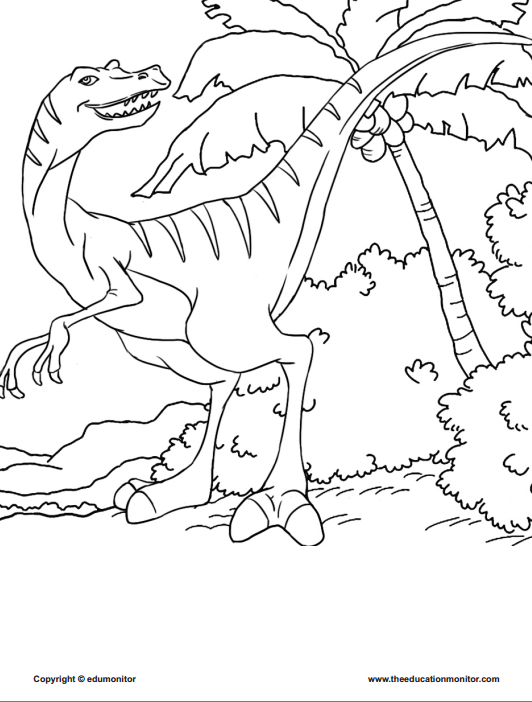 Printable Dinosaur Coloring Pages for kids Activities