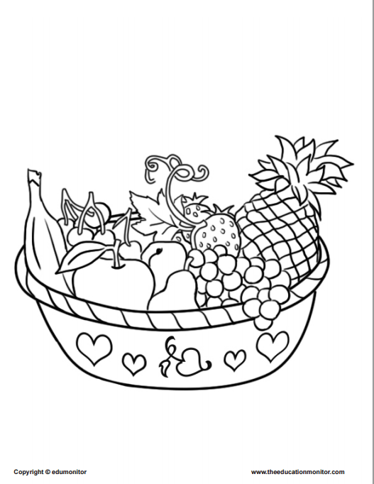 Coloring Pages for Kids Learning Nutrition