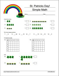 Worksheets for Teachers | St. Patricks Day Printables ...