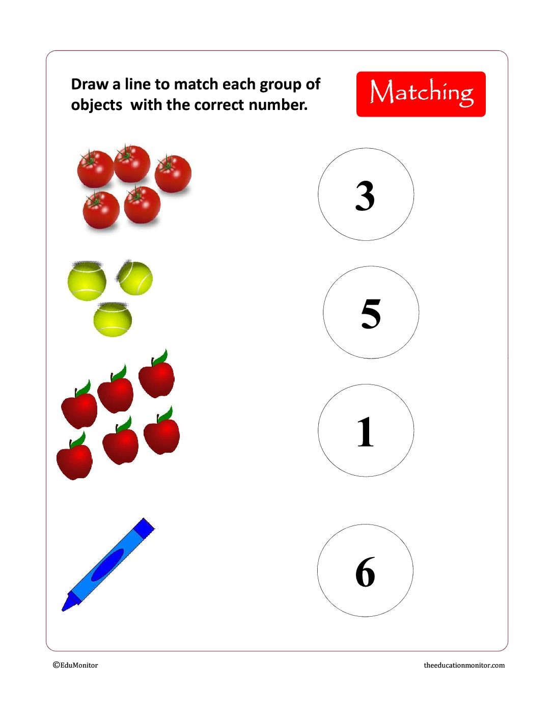 Free Preschool Amp Kindergarten Numbers Worksheets