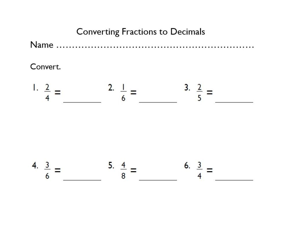 medium resolution of Grade-4 Converting Fractions to Decimals - The EduMonitor