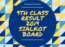 class 9th result 2019 bise sialkot