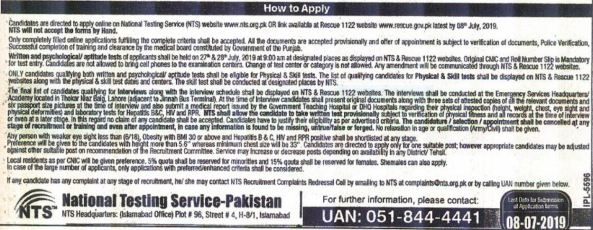 online apply in rescue 1122 jobs