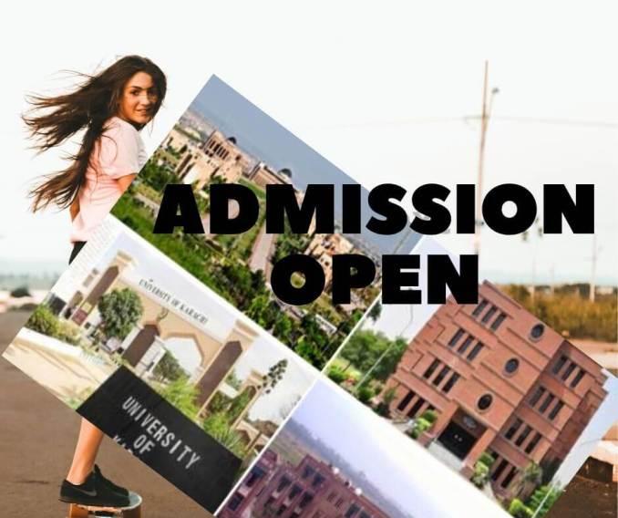Admission open in Pakistani Universities