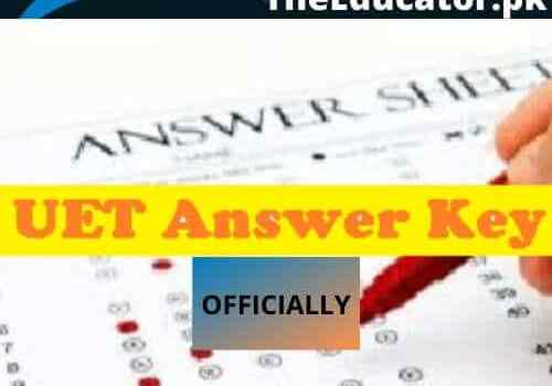UET entry Test Result