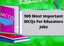 BEST PPSC EDUCATOR MCQS FOR ALL SCALES