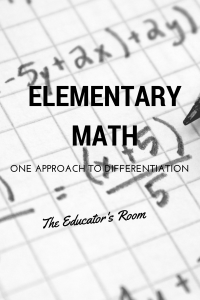 Elementary Math: One Approach to Differentiation