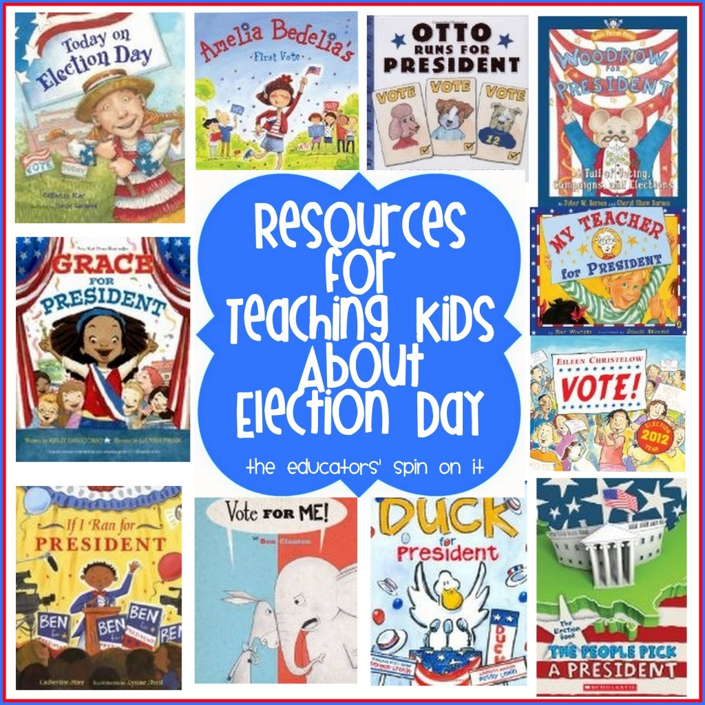 hight resolution of GO VOTE! Resources for Teaching Kids About Election Day - The Educators'  Spin On It