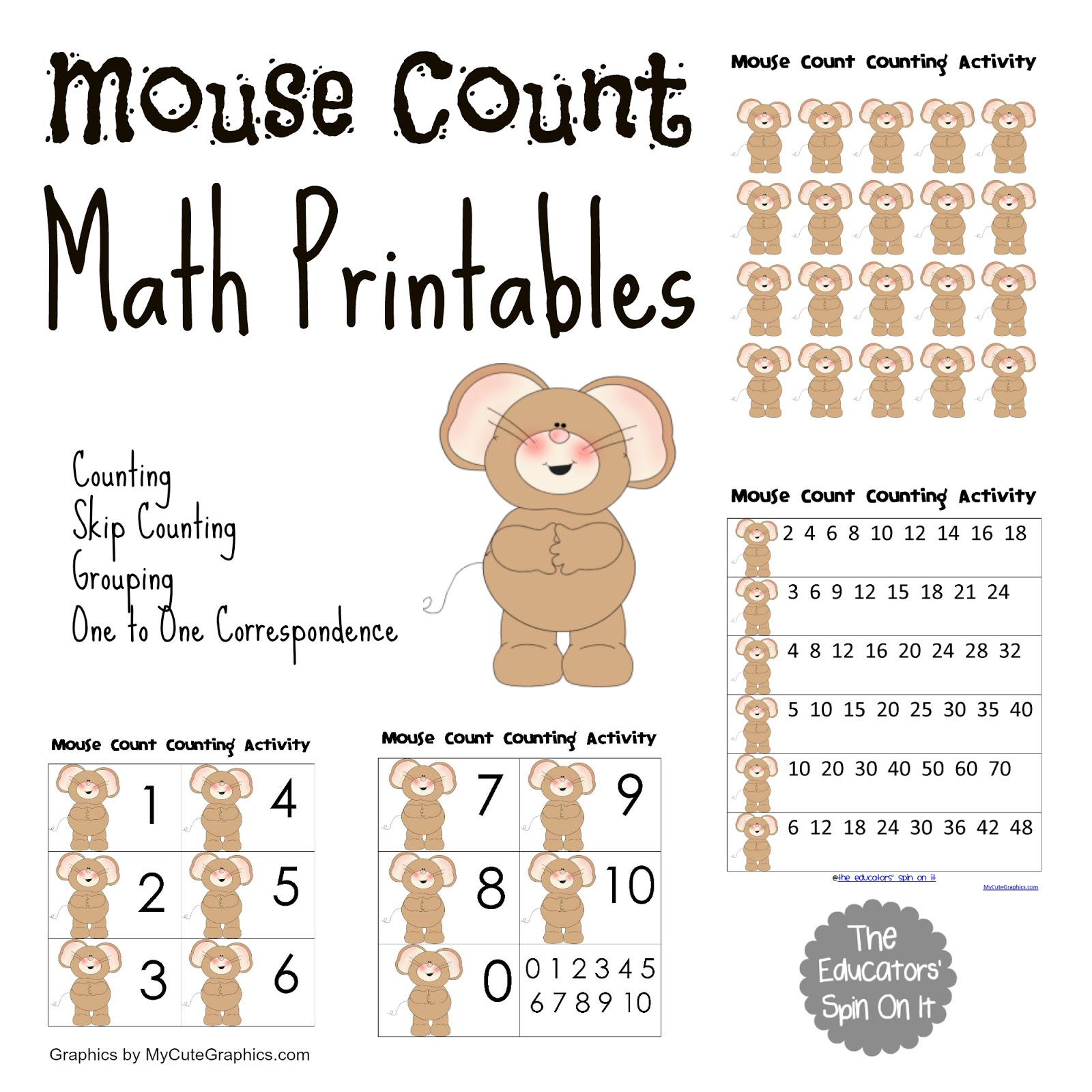 Mouse Count Activities Vbc Summer Camp